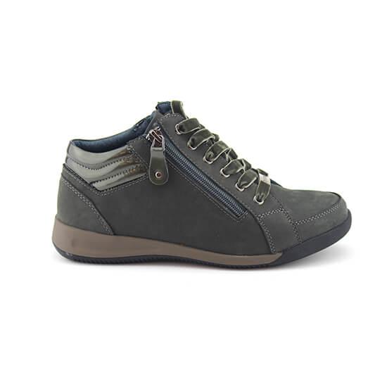 נעל שרוך ריץ-רץ ירוק נובוק+לק