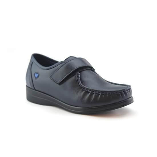 נעלי אחיות ולקרו אמריקאי על סוליה נמוכה בצבע כחול נפה