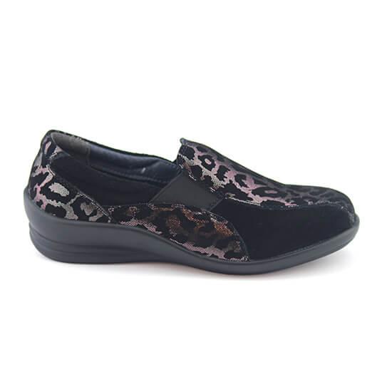נעל גומי נמר פיוטר+זמש שחור