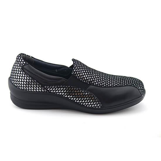 נעל גומי טיפות כסף+שחור נפה