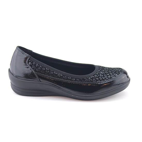 נעל בובה נמר שחור+נפה