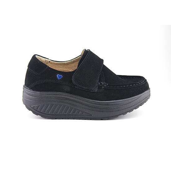נעל סקווצ' על סולית נדנדה בצבע אפור זמש