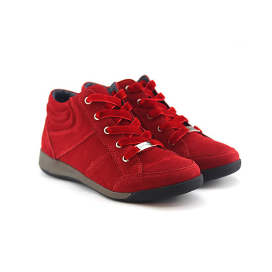 נעל שרוך קומב אדום זמש
