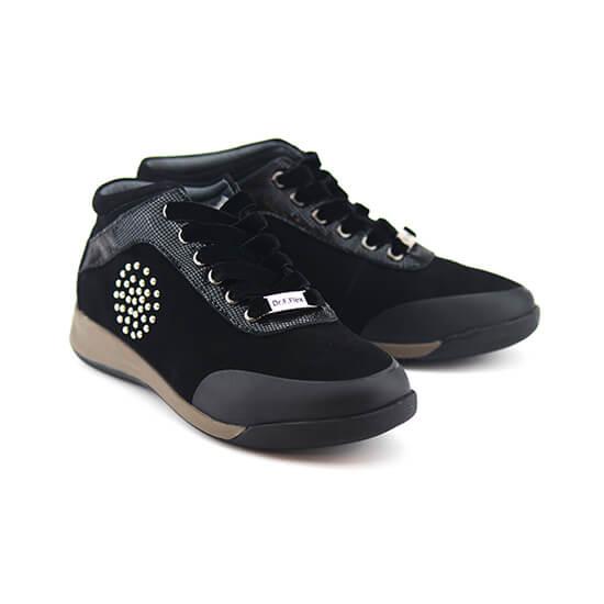 נעל שרוך קומב שחור נובוק+לקס