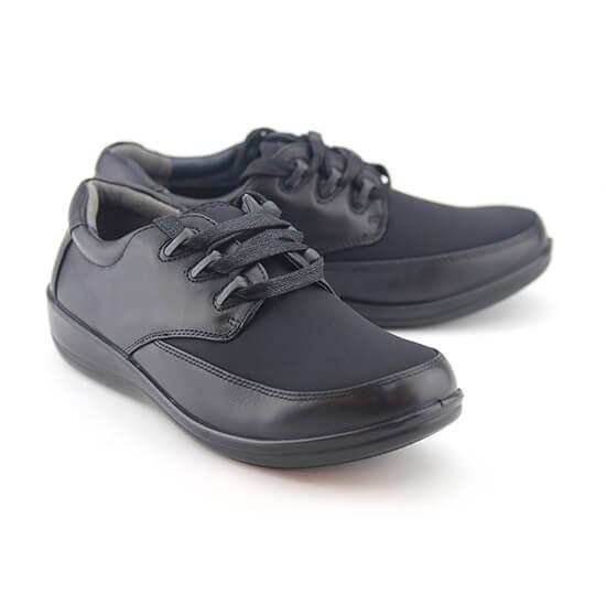 נעל נוחות שרוך לייקרה שחור+נפה