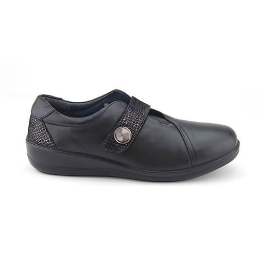 E. נעל סקוץ שחור נפה+זהב עתיק