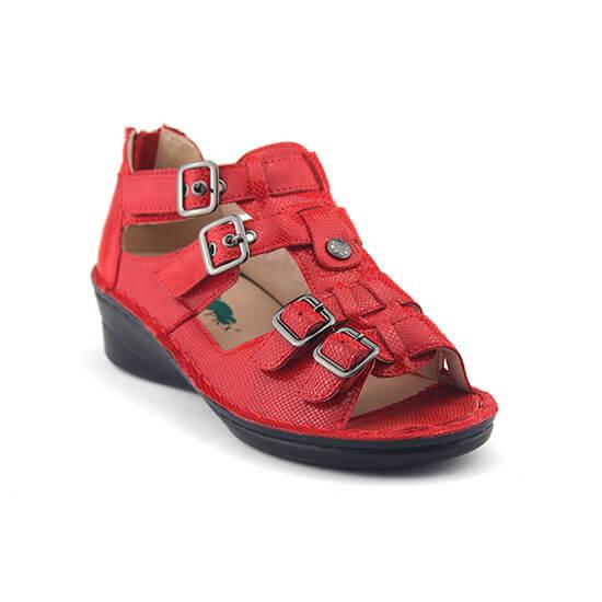 סנדלי גלדיאטור בצבע אדום לקשרי