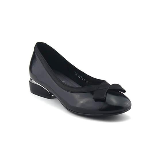 נעלי בובה פפיון איקס שחור לק