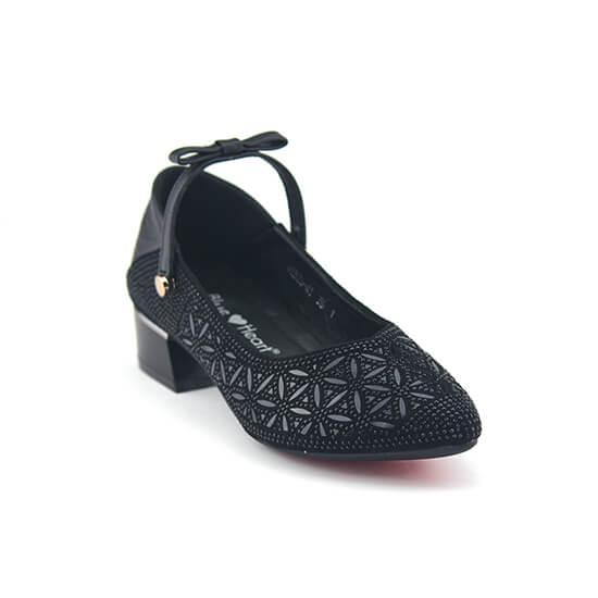 נעל סירה רצועה נצנצים שחור