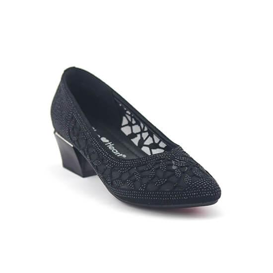 נעלי סירה אלגנטיות בעיצוב תחרה מלא
