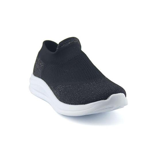 נעלי ספורט אלסטיות גרב מנצנצות, ללא שרוכים