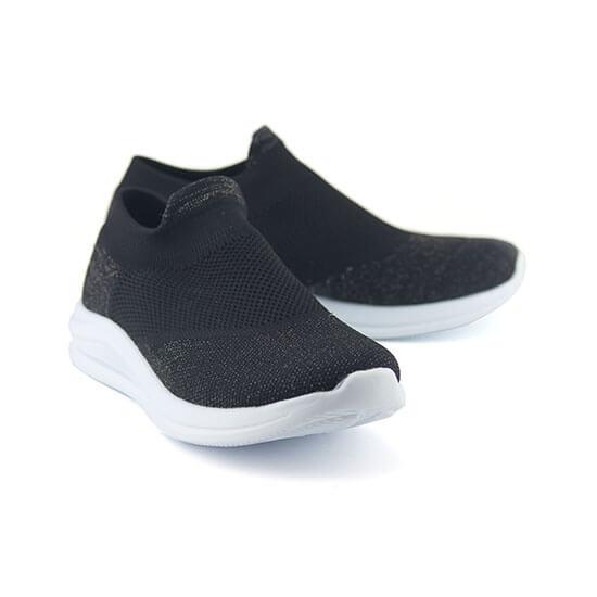 נעלי ספורט אלסטיות גרב מנצנצות, ללא