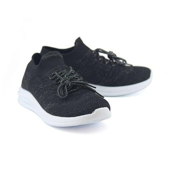 נעלי ספורט אלסטיות גרב מנצנצות, עם שרוכים