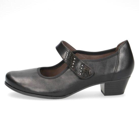"""נעלי בובה סקווטש על עקב 3.5 ס""""מ"""