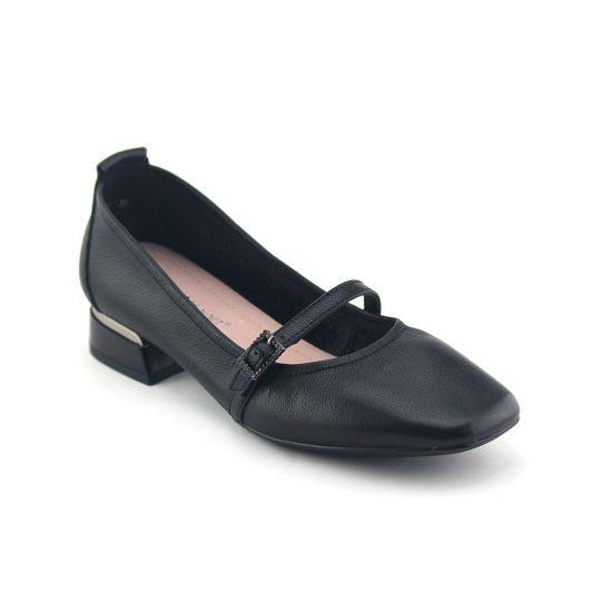 נעלי סירה עם אבזם עדין בשחור נפה