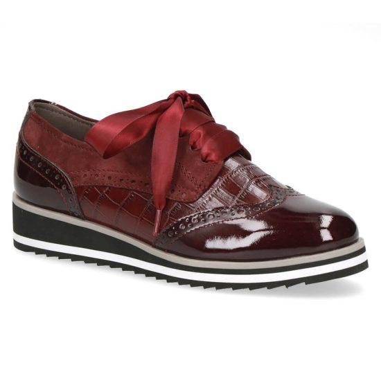 נעלי אוקספורד מעור משולב